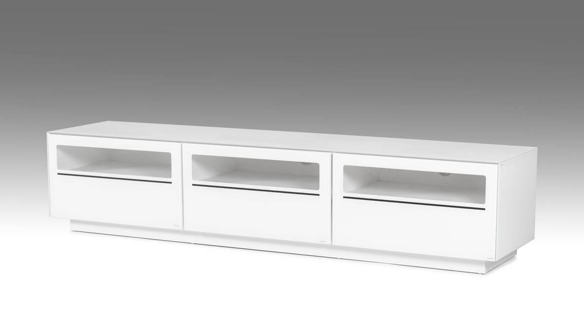 Landon Contemporary White Tv Stand inside Contemporary White Tv Stands (Image 4 of 15)