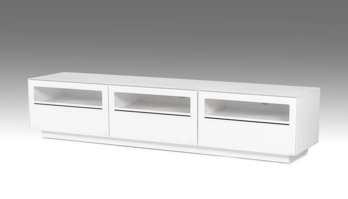 Landon Contemporary White Tv Stand pertaining to Modern White Lacquer Tv Stands (Image 8 of 15)