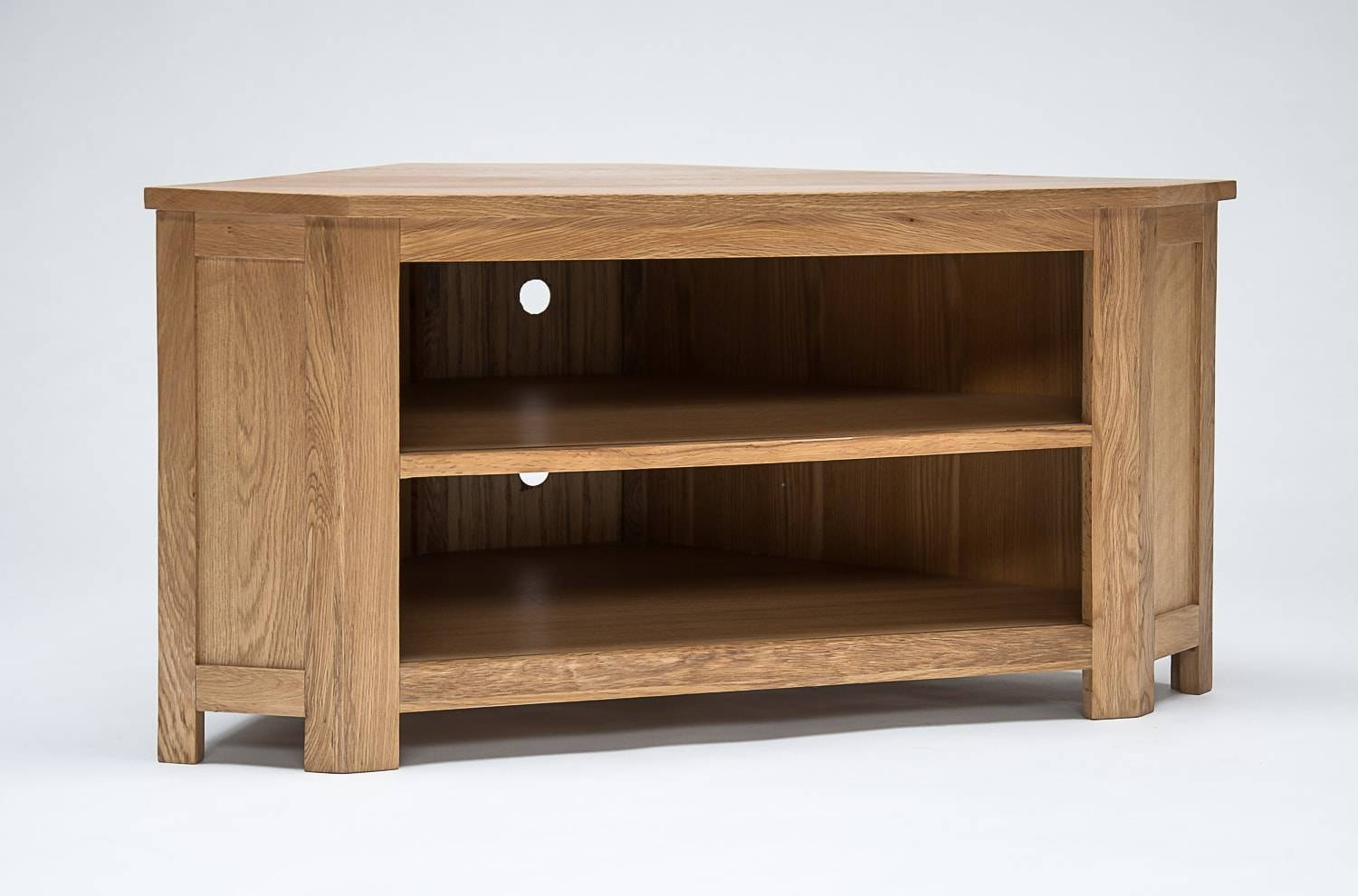 Lansdown Oak Low Corner Tv Cabinet – Oak Furniture Hub intended for Low Corner Tv Cabinets (Image 6 of 15)