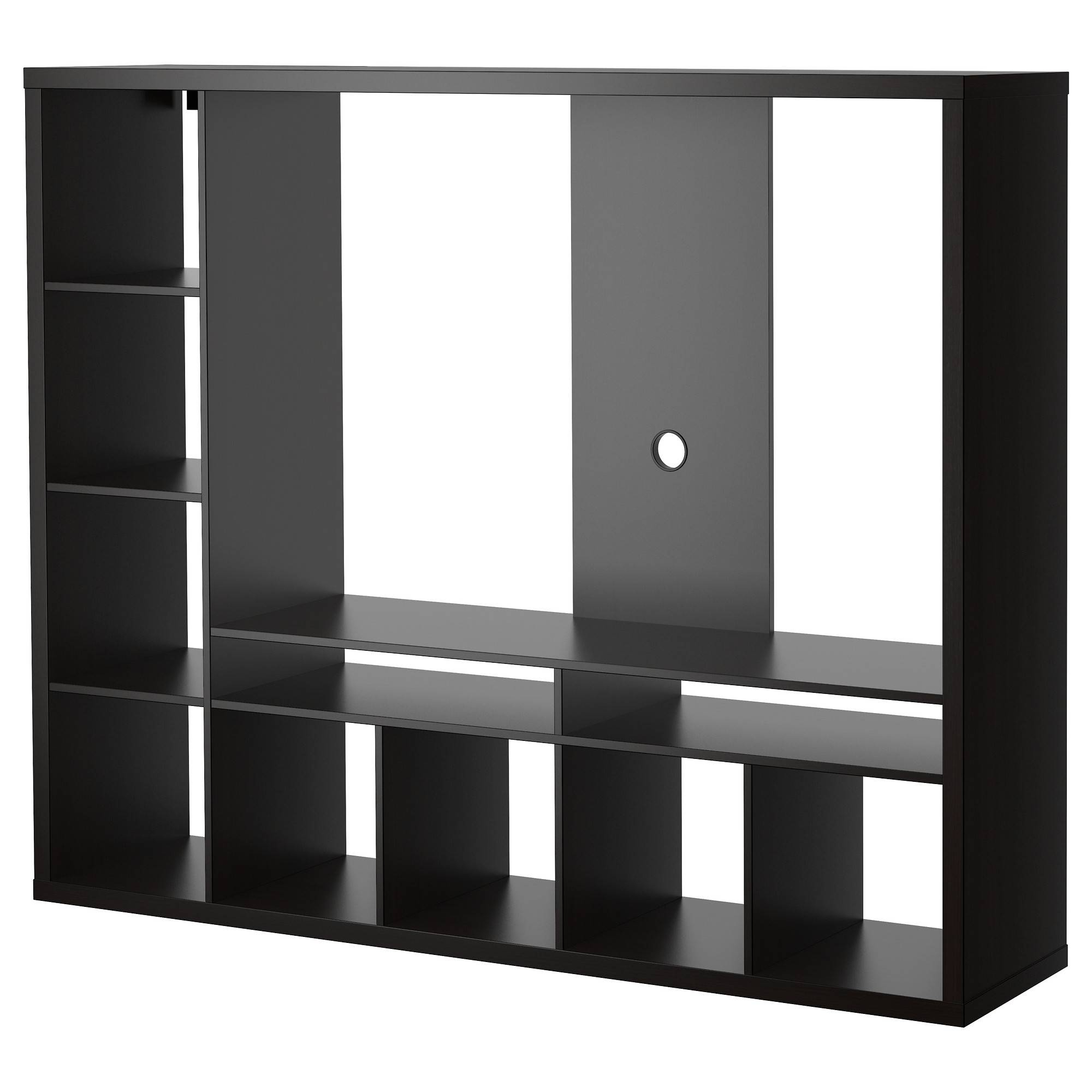 Lappland Tv Storage Unit Black Brown 183x147 Cm – Ikea Within Large Black Tv Unit (View 8 of 15)