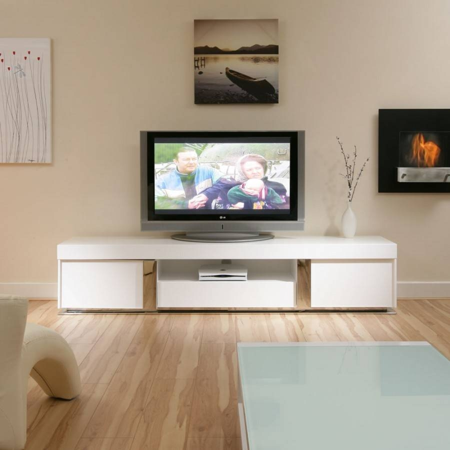 Large Tv Television Cabinet Entertainment Unit Center White Gloss within Large Tv Cabinets (Image 9 of 15)