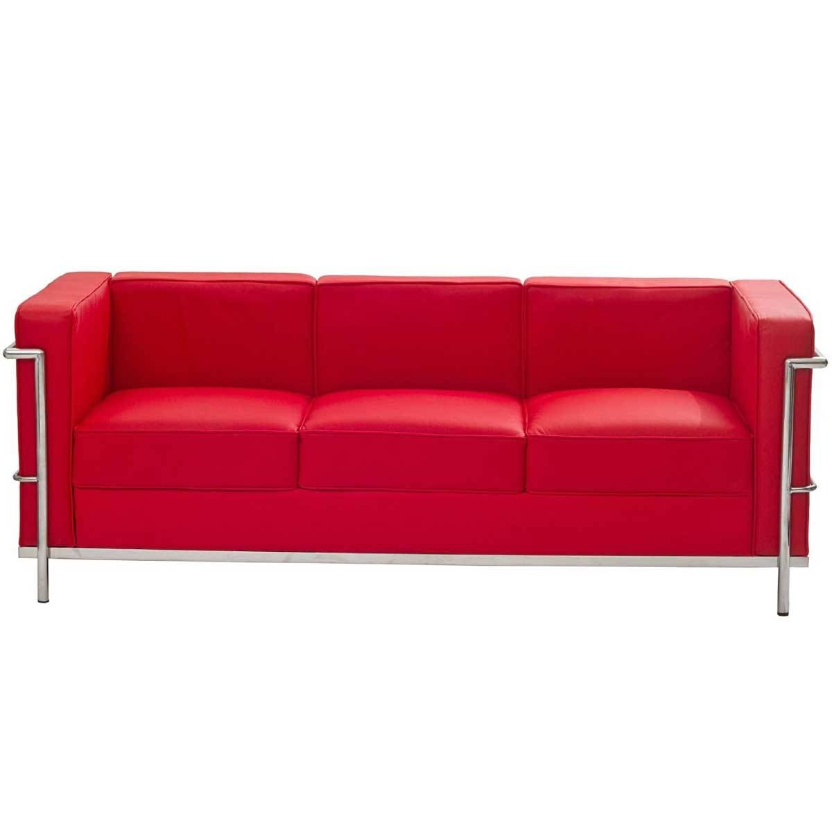 Latest Red Leather Sofas For Sale #4386 for Sofas With Chrome Legs (Image 11 of 15)