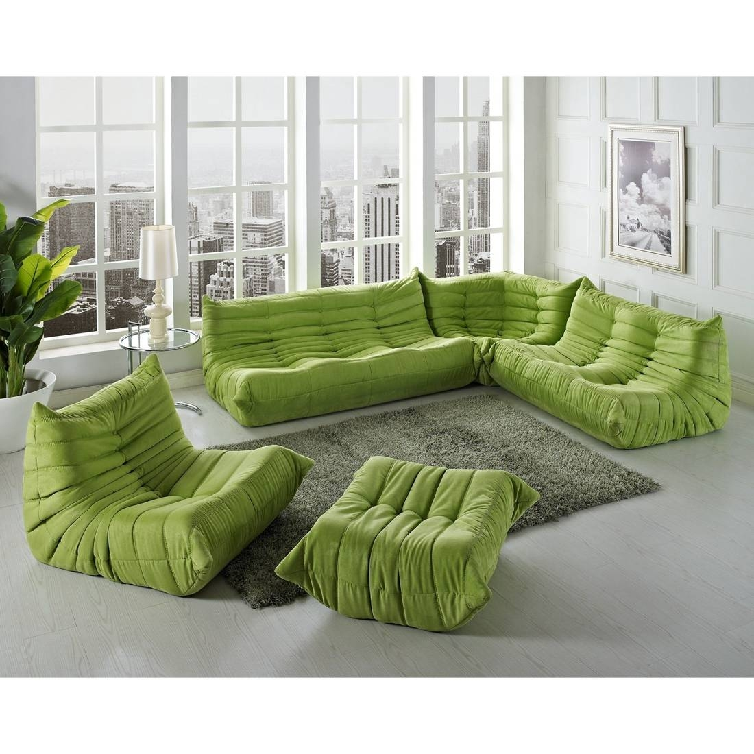 Latest Trend Of Low Profile Sectional Sofas 65 On Cheap Sectional inside Green Leather Sectional Sofas (Image 7 of 15)