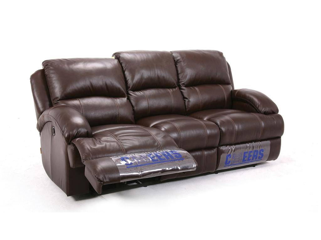 Leather Dual Reclining Sofa pertaining to Cheers Leather Sofas (Image 11 of 15)