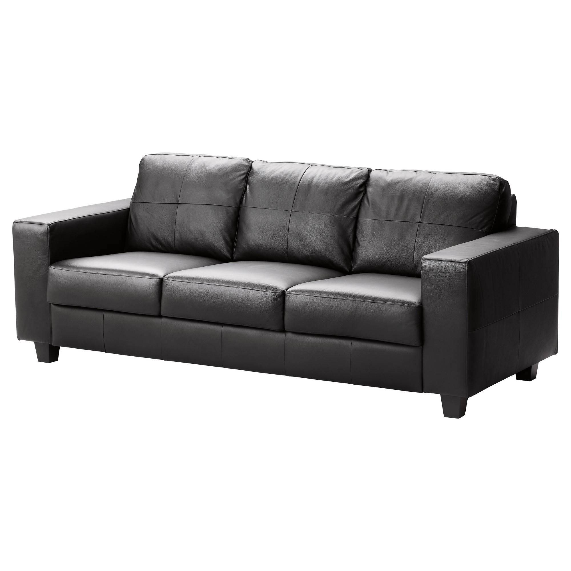 Leather & Faux Leather Couches, Chairs & Ottomans - Ikea inside Black Vinyl Sofas (Image 9 of 15)