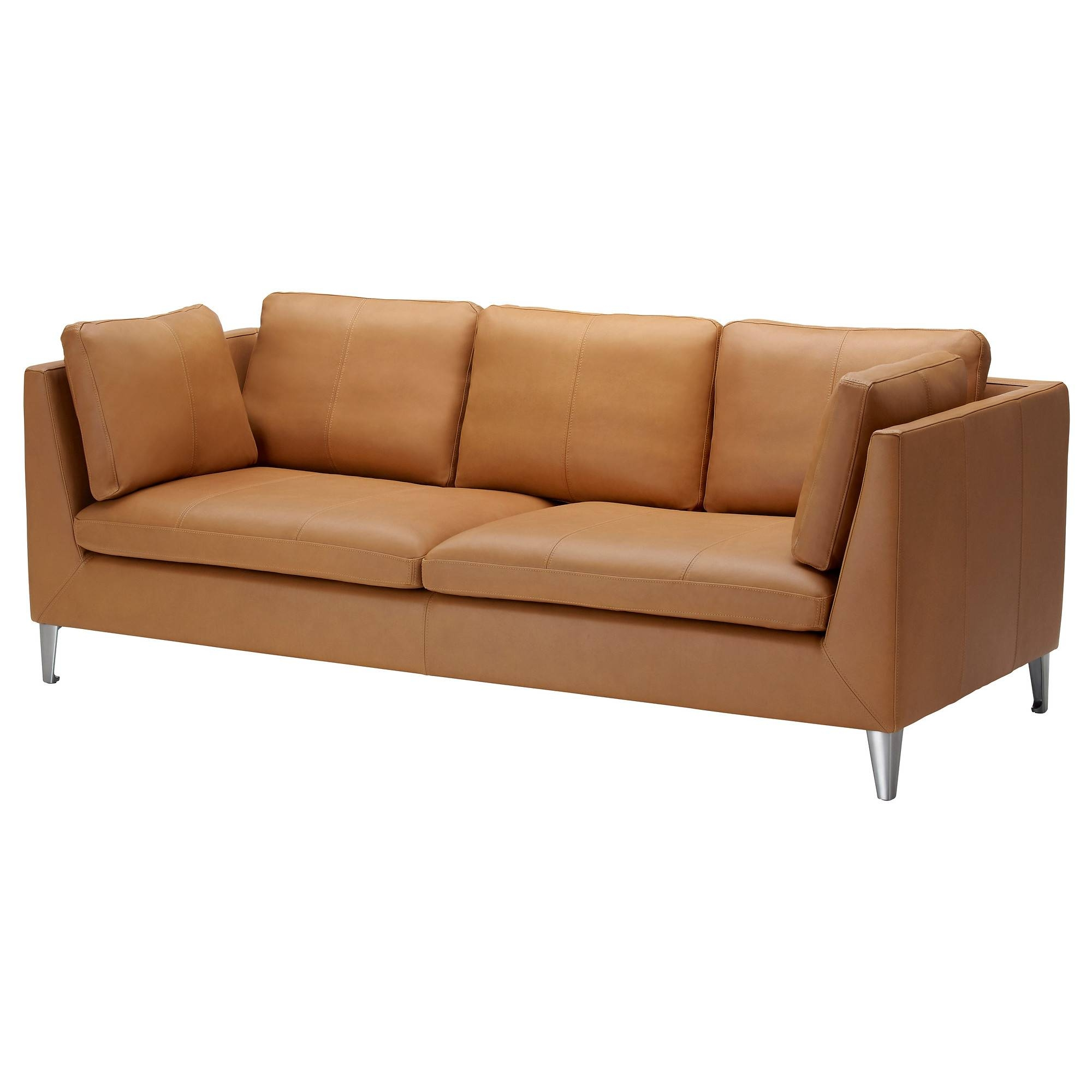 Leather & Faux Leather Couches, Chairs & Ottomans - Ikea throughout Camel Colored Leather Sofas (Image 9 of 15)