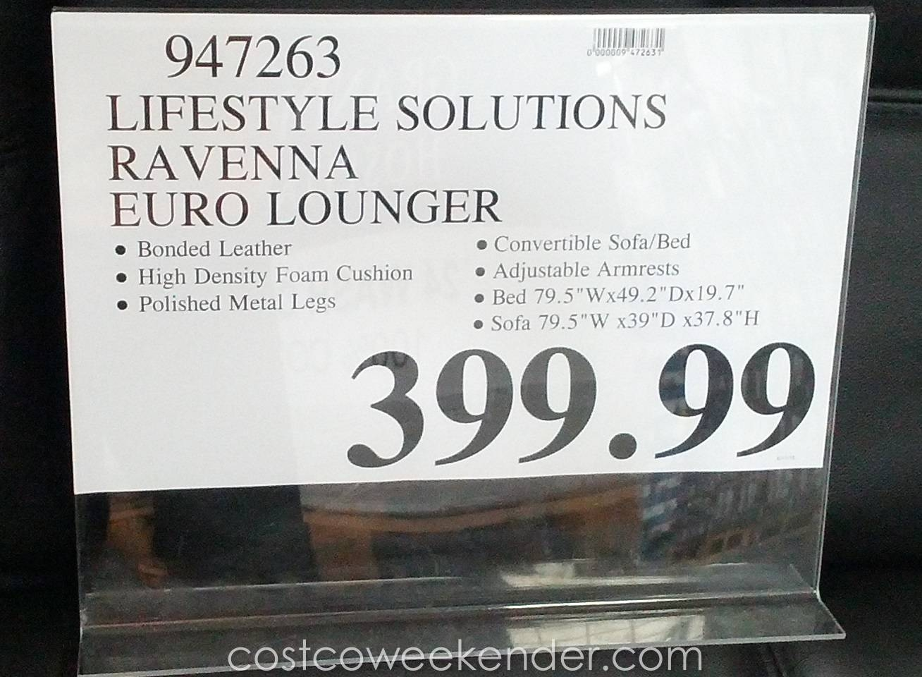 Leather Futon Costco | Roselawnlutheran intended for Euro Loungers (Image 8 of 15)