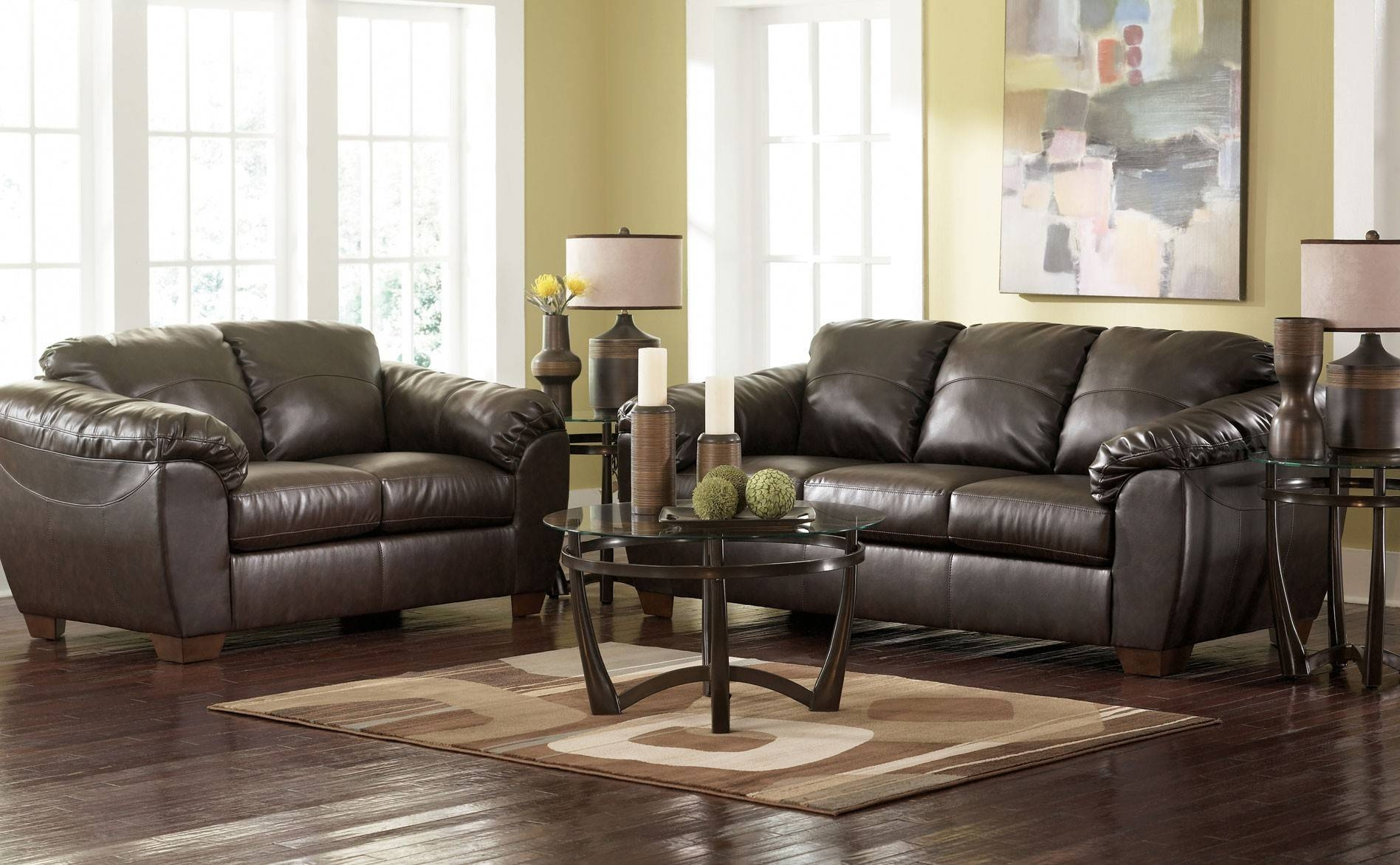 Leather Sectional Sofa Ashley Furniture - Home And Interior with Ashley Corduroy Sectional Sofas (Image 12 of 15)
