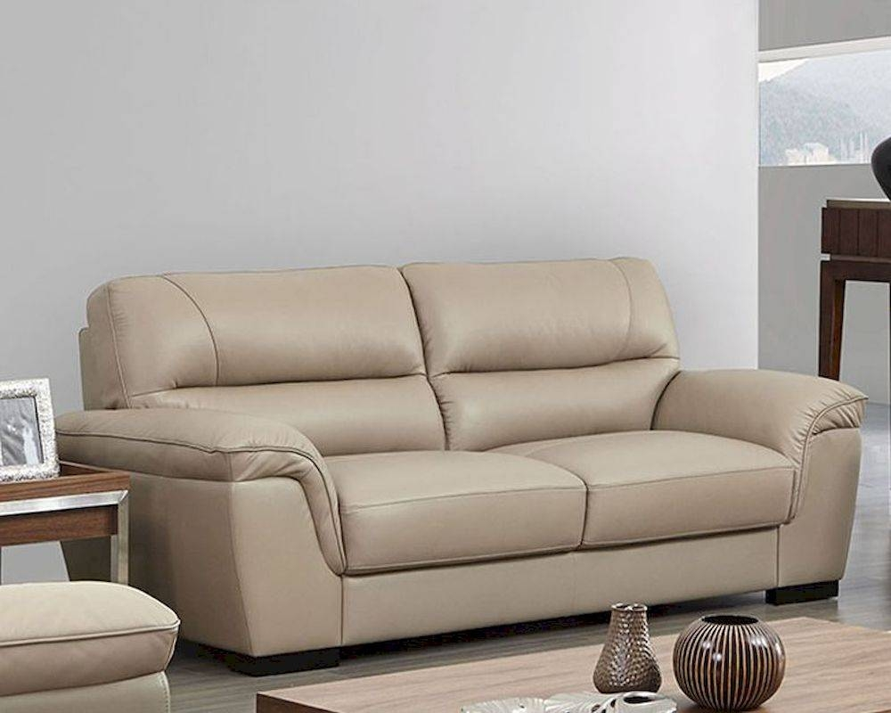 Leather Sofa In Beige Color Esf8052S in Beige Leather Couches (Image 7 of 15)