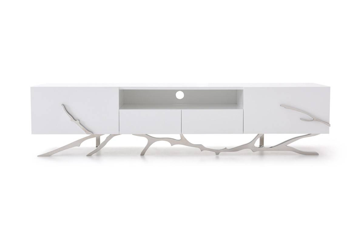 Legend Modern White Tv Stand throughout Contemporary White Tv Stands (Image 5 of 15)