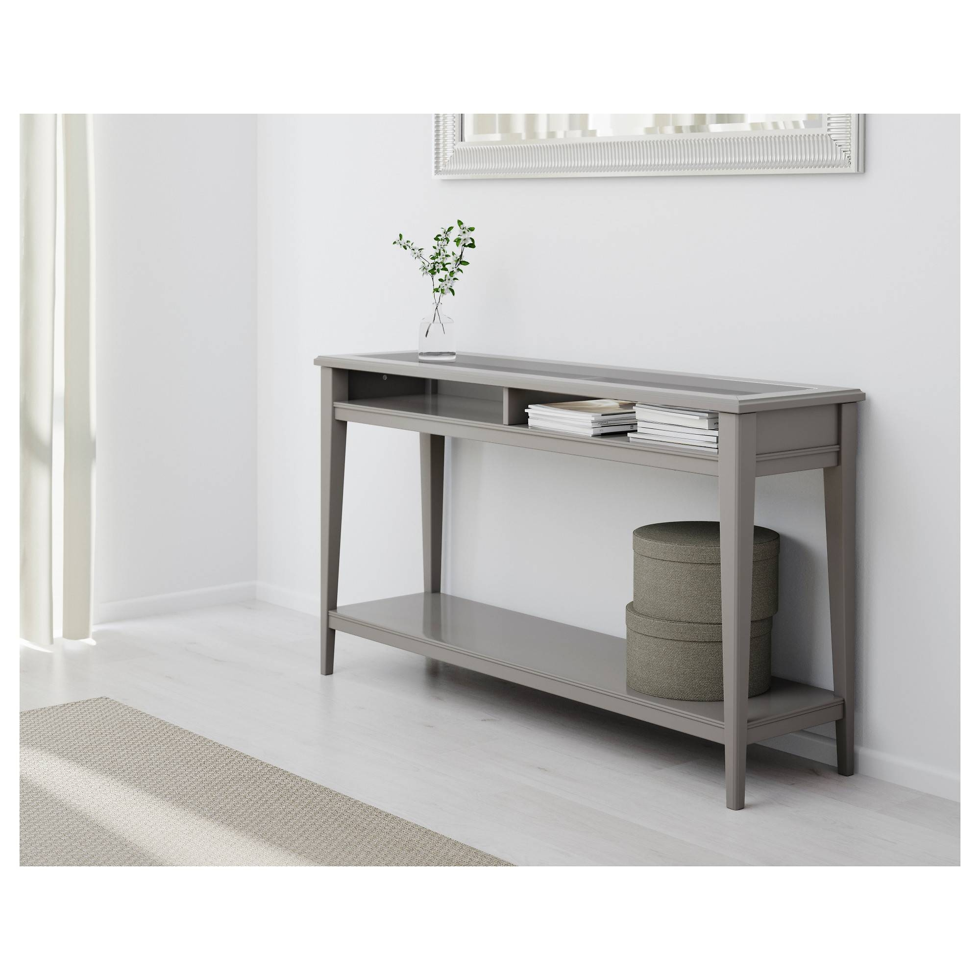 Liatorp Console Table - White/glass - Ikea pertaining to Computer Sofa Tables (Image 7 of 15)