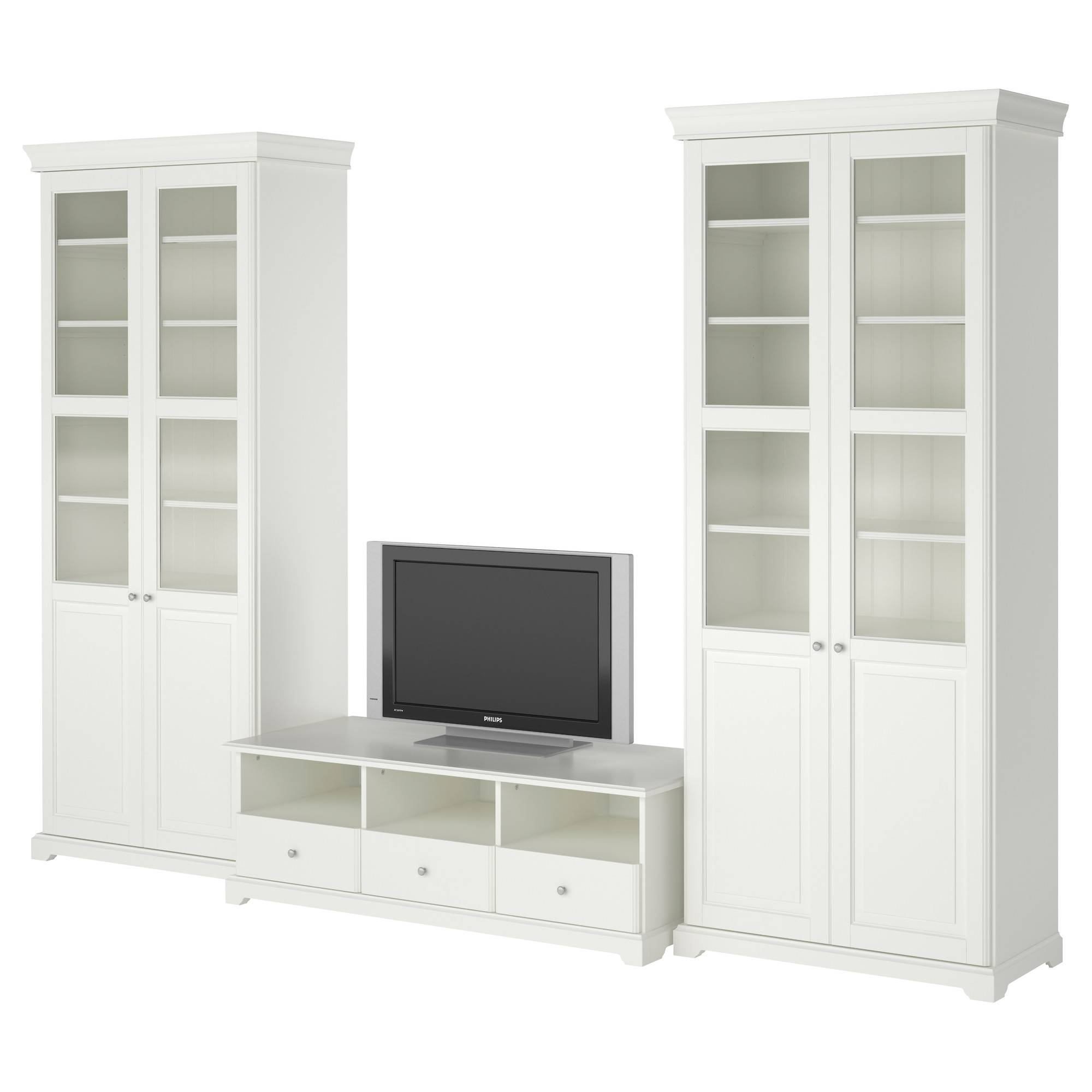 Liatorp Tv Storage Combination White 331X214 Cm - Ikea for Tv Cabinets (Image 8 of 15)