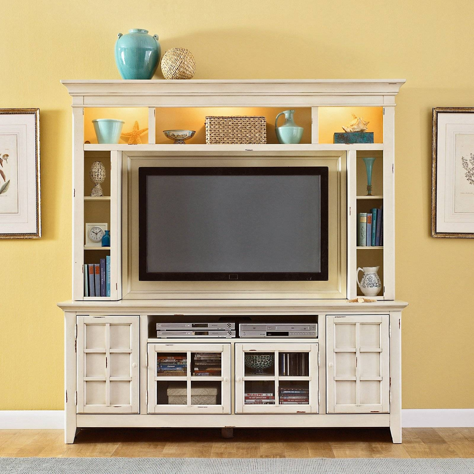 Liberty Furniture New Generation White Mountable Flat Panel in Entertainment Center Tv Stands (Image 4 of 15)
