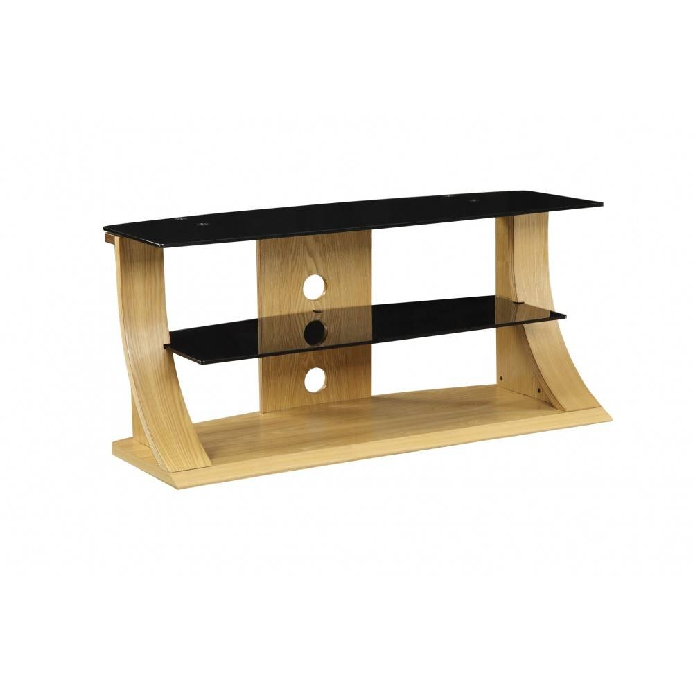 Light Modern Stylish Wooden Veneer Oak Tv Stand Glass Pertaining To Tv Stands In Oak (View 12 of 15)