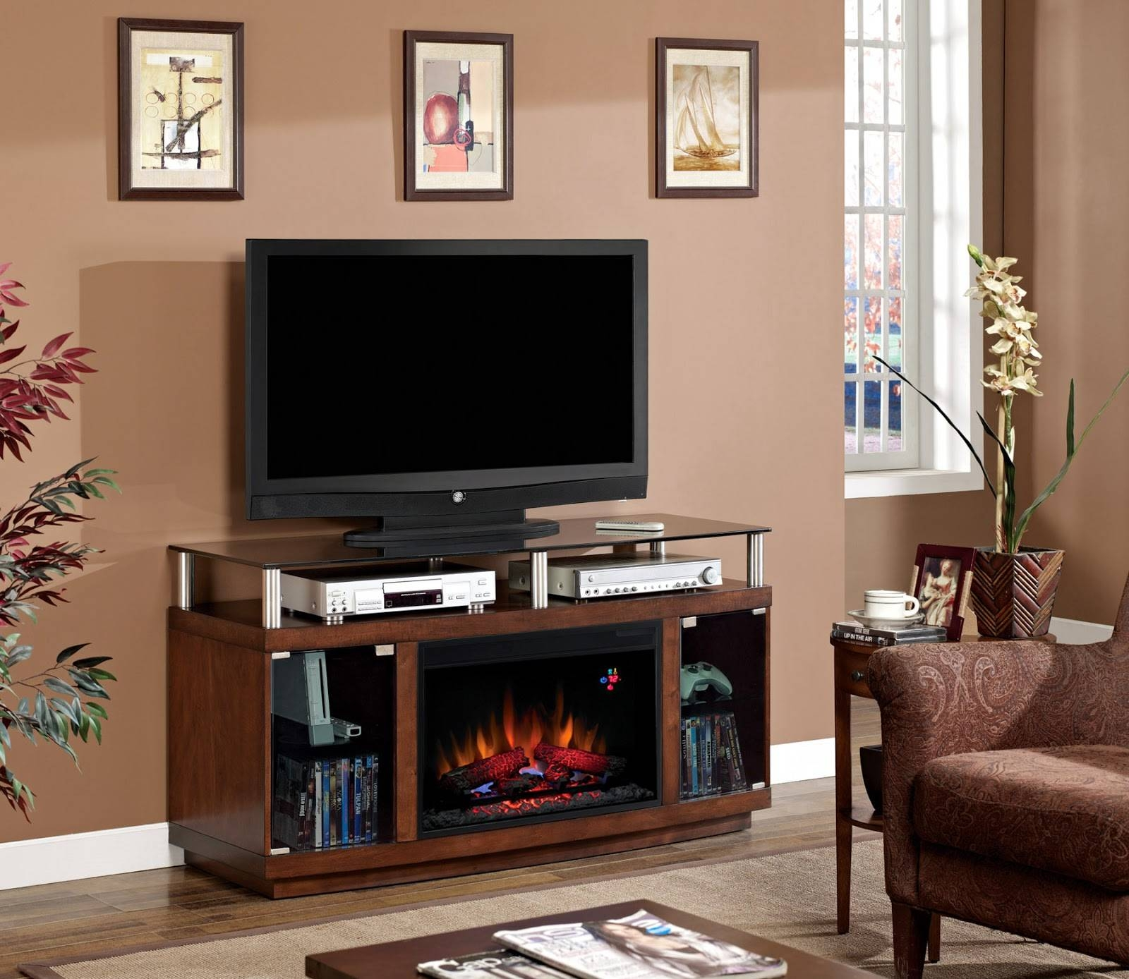 Living ~ Awesome Unusual Tv Stands With Led Tv Above Two Dvd within Unusual Tv Stands (Image 7 of 15)