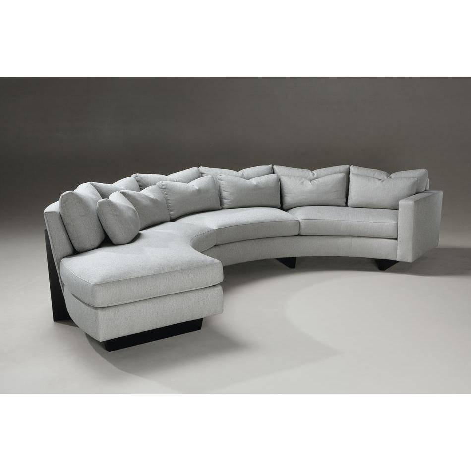 Living Room: Amazing Winsome Curved Sectional For Beautiful Living with Semi Circular Sectional Sofas (Image 10 of 15)