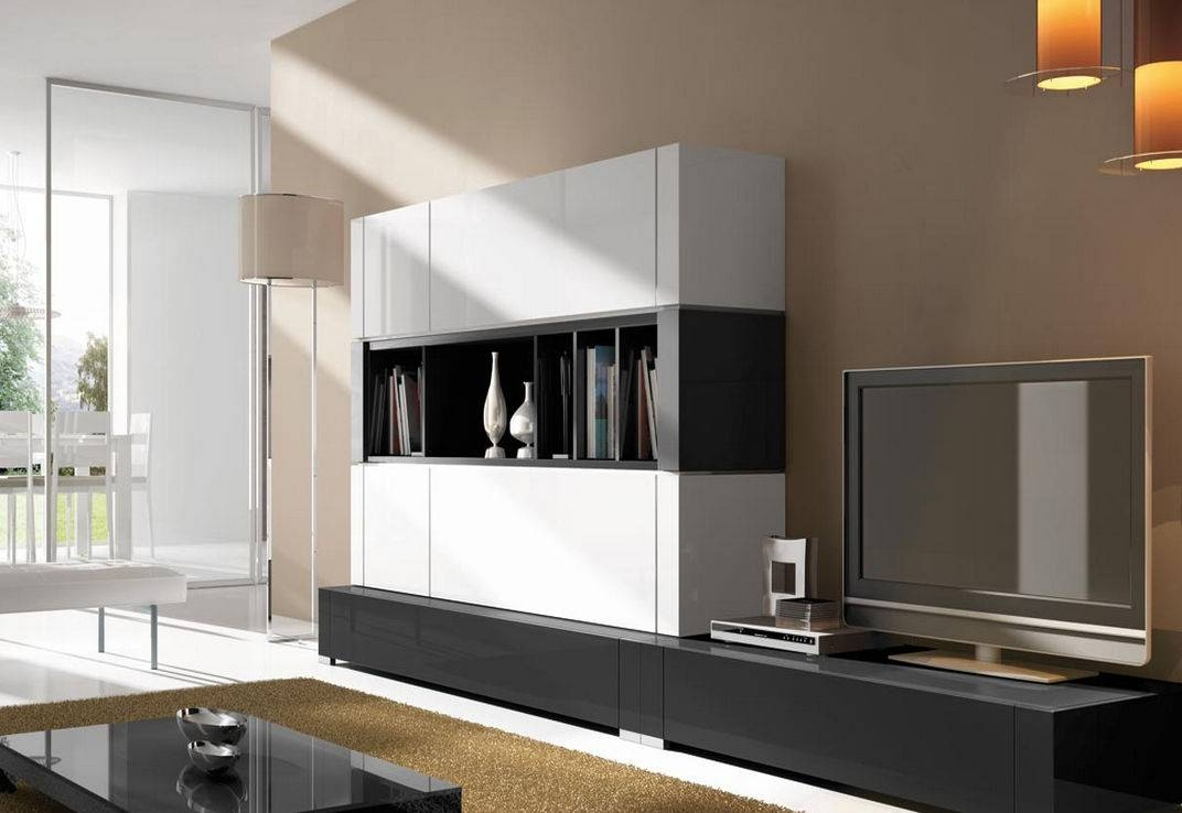 Living Room Amazing With Inspirations White Gloss Wall Units with Black Gloss Tv Wall Unit (Image 6 of 15)