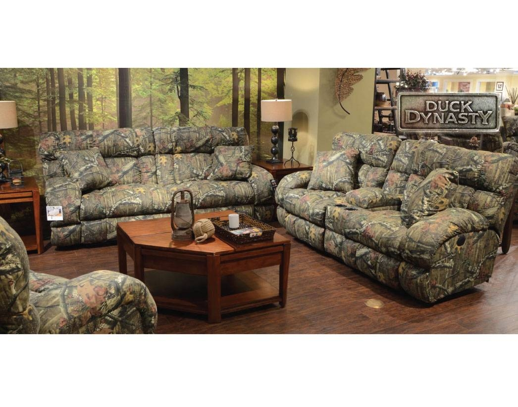 Living Room: Amusing Camo Living Room Furniture Camo Couches intended for Camo Reclining Sofas (Image 12 of 15)