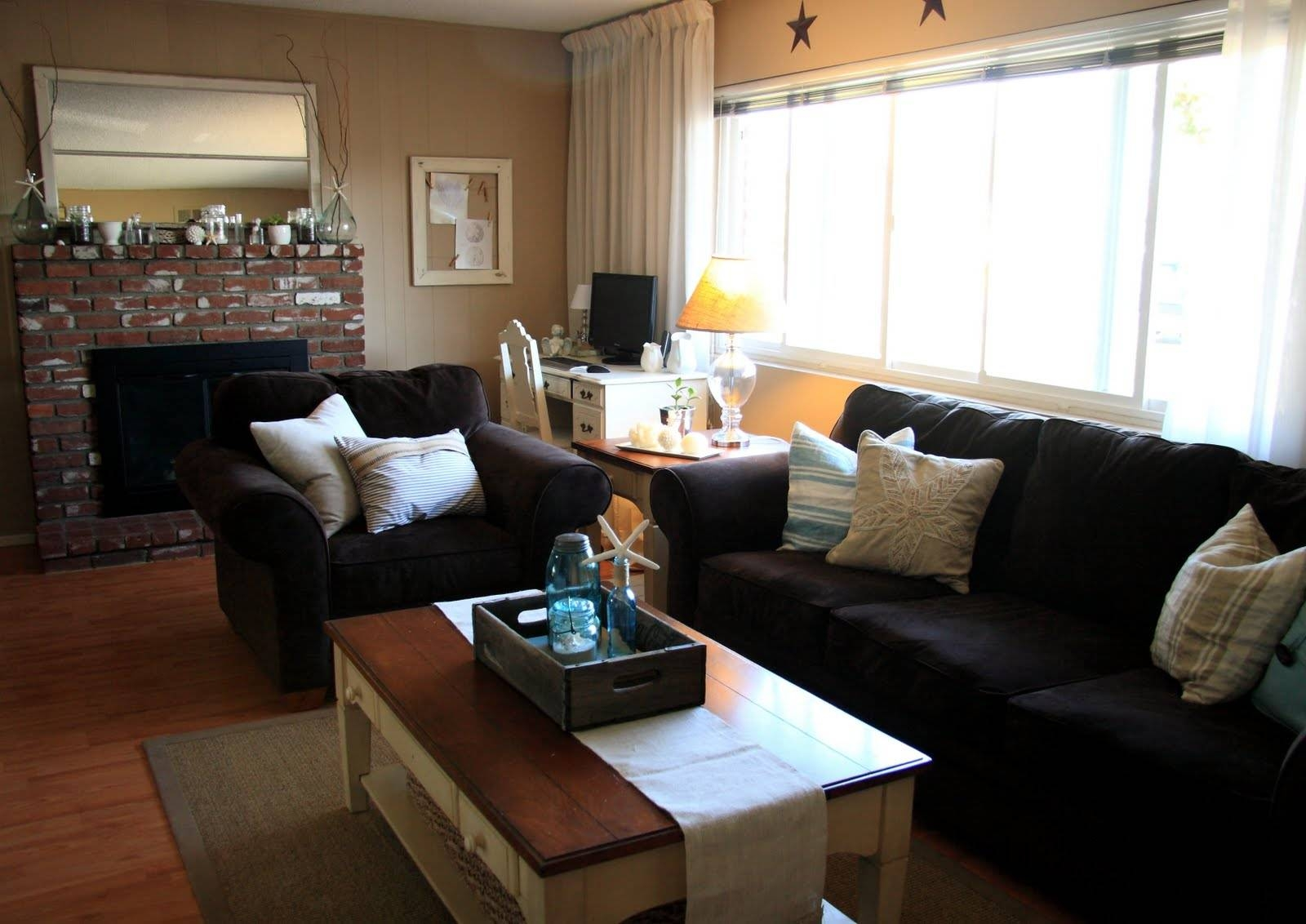Living Room: Awesome Black Living Room Furniture Decorating Ideas intended for Black Sofas Decors (Image 14 of 15)