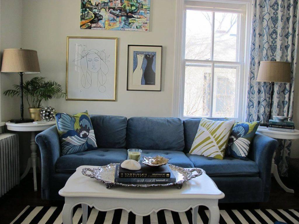 Living Room : Charming Blue White Modern Living Room Design inside Blue and White Sofas (Image 8 of 15)
