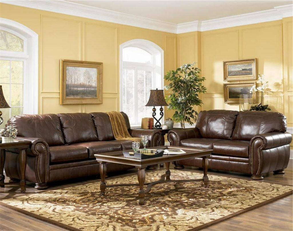 Living Room Colors With Brown Leather Furniture | Centerfieldbar pertaining to Living Room With Brown Sofas (Image 10 of 15)