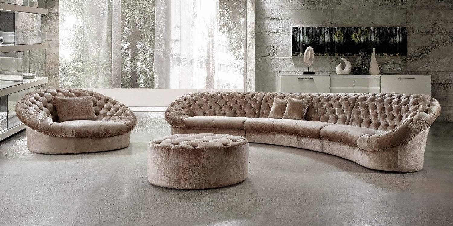 Living Room: Curved Sectional   Contemporary Curved Sectional Sofa inside Small Curved Sectional Sofas (Image 11 of 15)