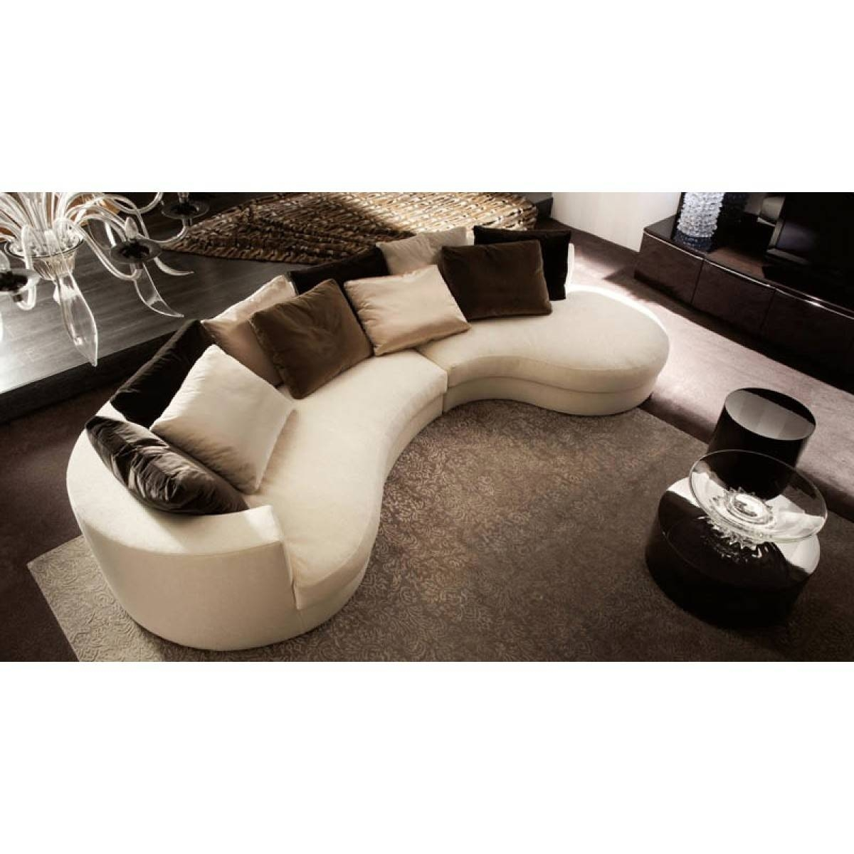Living Room: Curved Sectional | Semi Circular Sofas | Circular Sofas inside Semi Circular Sectional Sofas (Image 11 of 15)