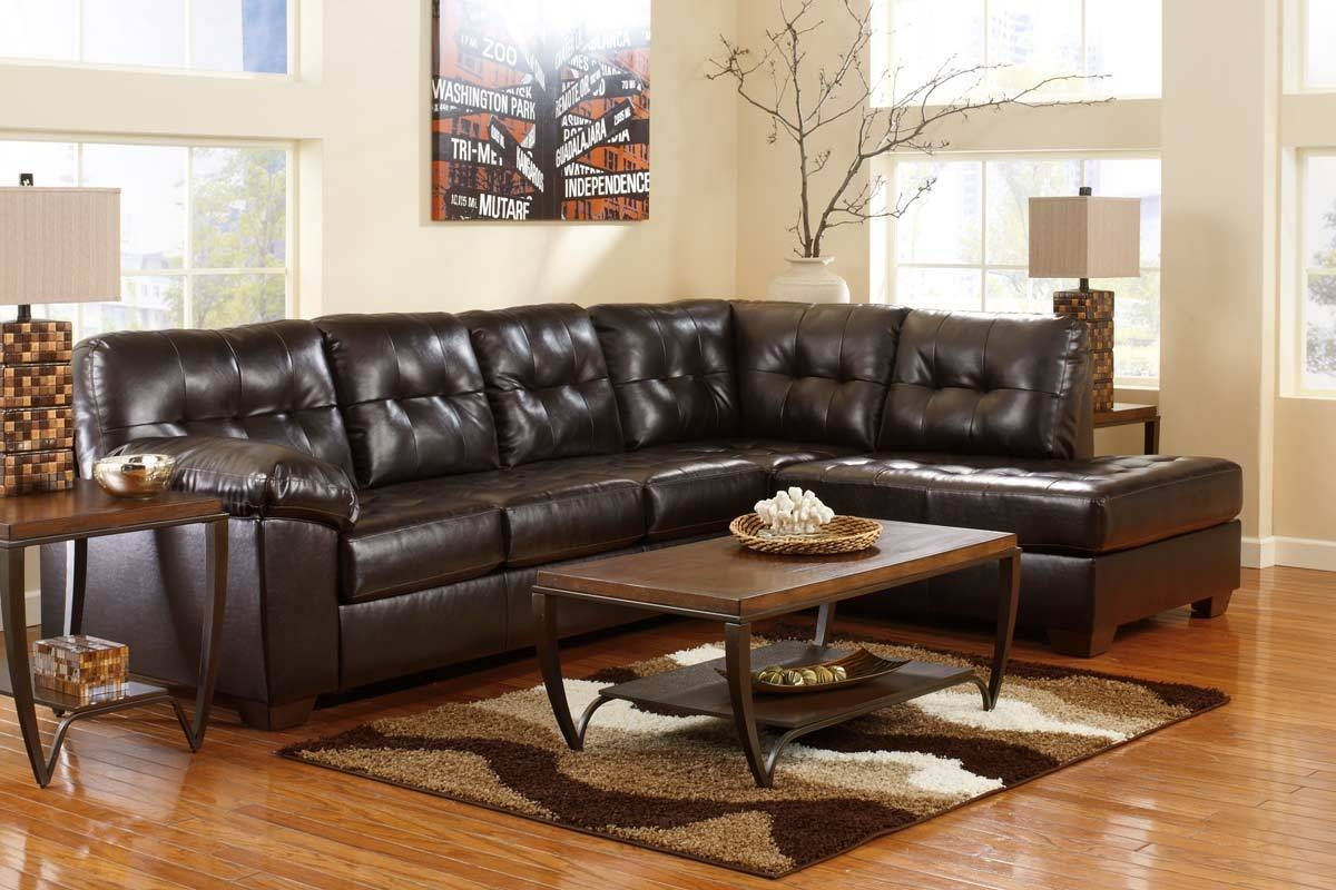 Living Room: Elegant Ashley Leather Sectional Sofa For Comfortable in Ashley Corduroy Sectional Sofas (Image 13 of 15)