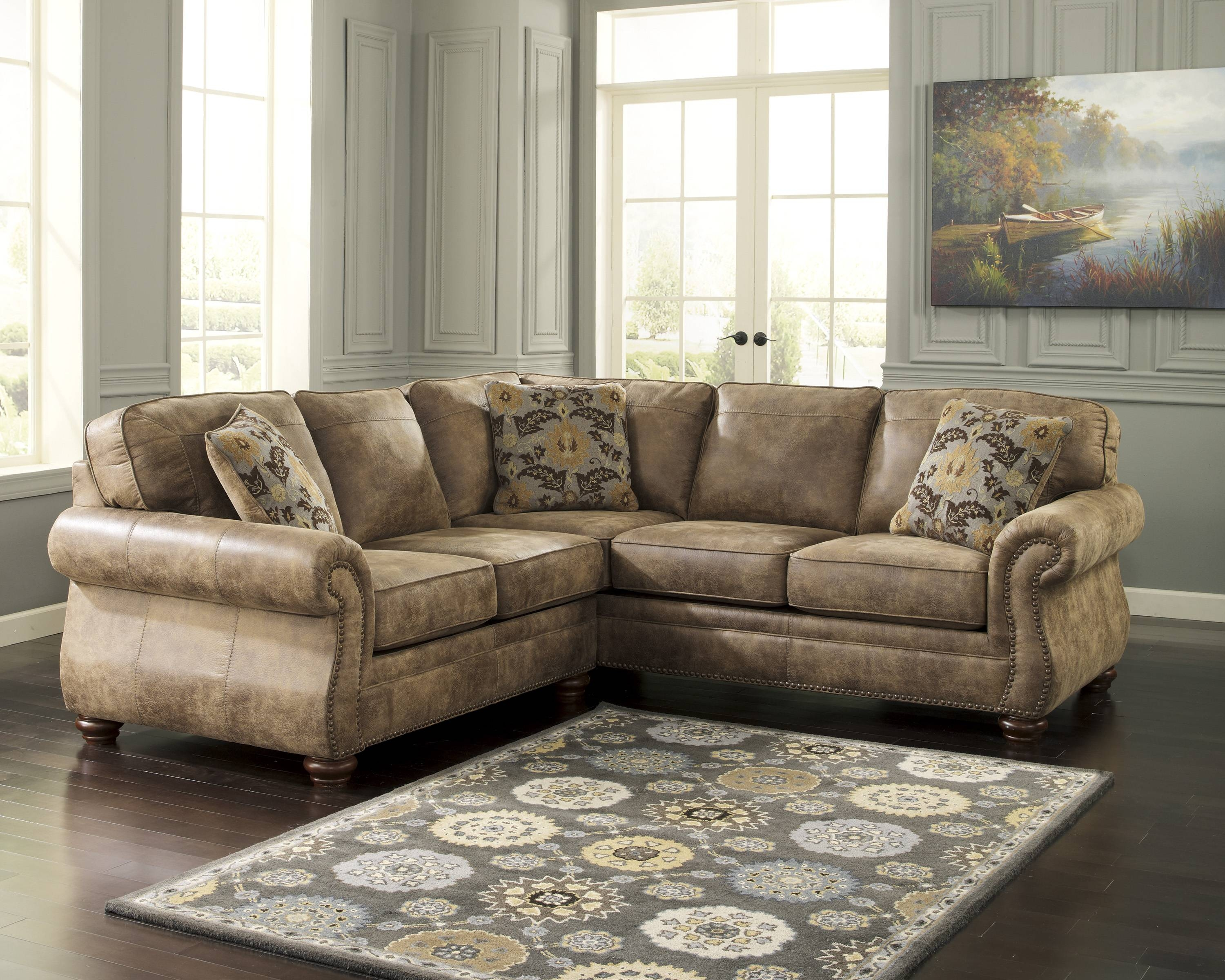 Living Room: Elegant Ashley Leather Sectional Sofa For Comfortable with regard to Ashley Furniture Corduroy Sectional Sofas (Image 13 of 15)