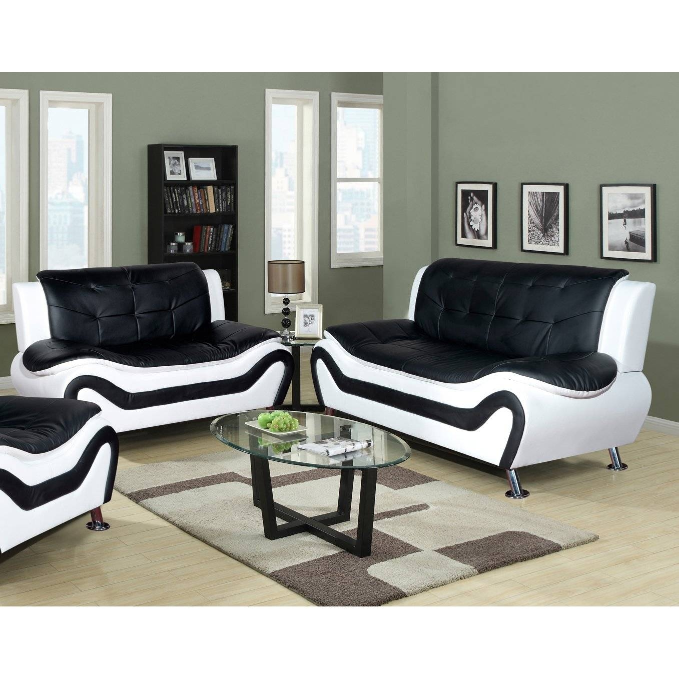 Living Room: Excellent Sofa And Loveseat Sets Living Spaces Sofa for Black And White Sofas And Loveseats (Image 11 of 15)