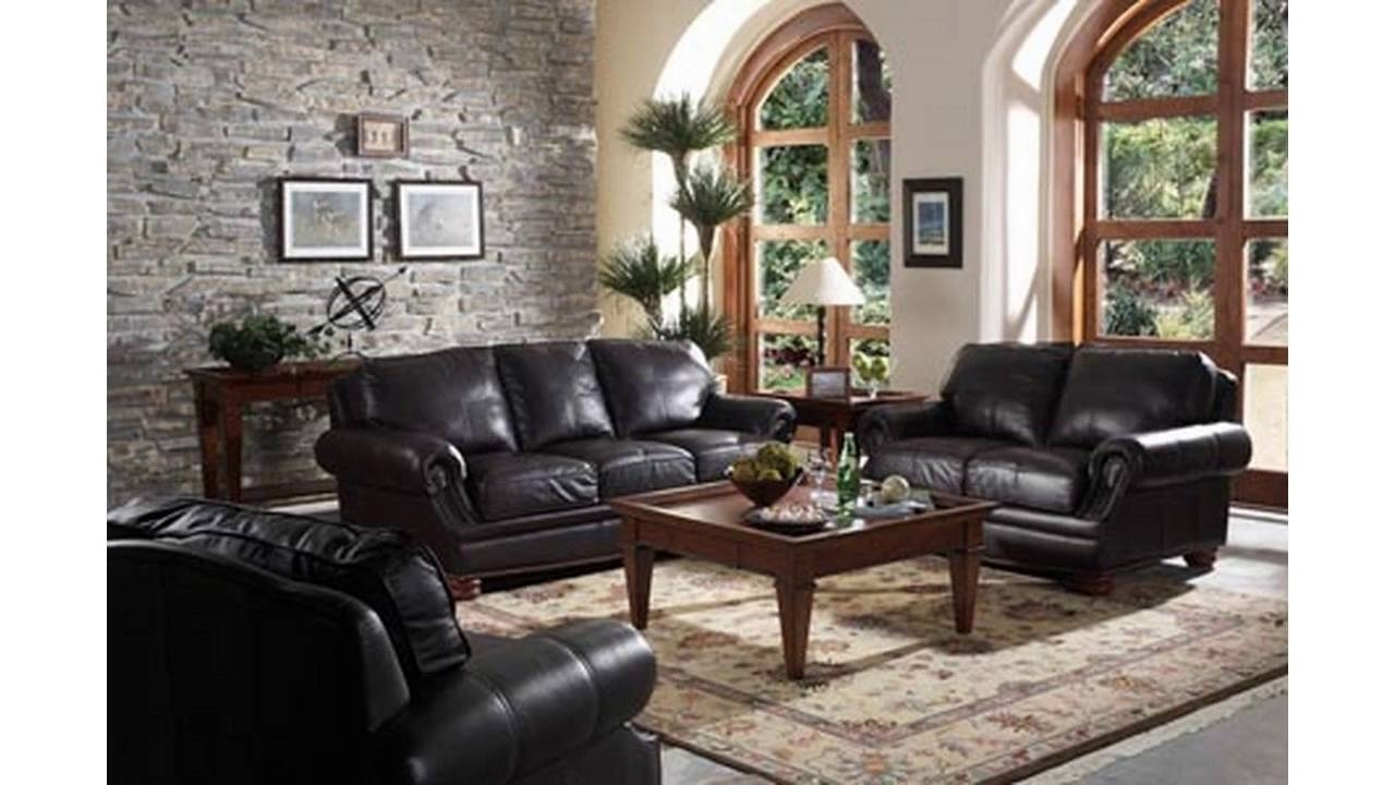 Living Room Ideas With Black Sofa - Youtube for Black Sofas Decors (Image 13 of 15)