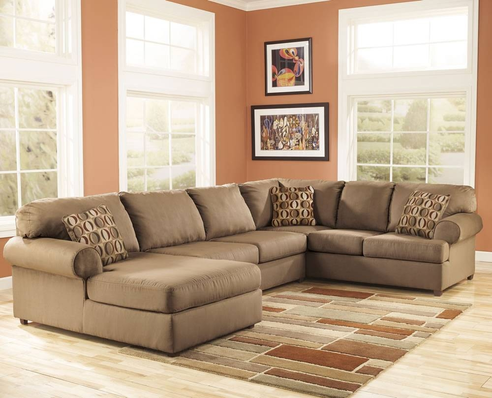 Living Room With Sectional Sofa – Perfect Ideas | Homesfeed regarding Microfiber Sectional Sofas (Image 13 of 15)