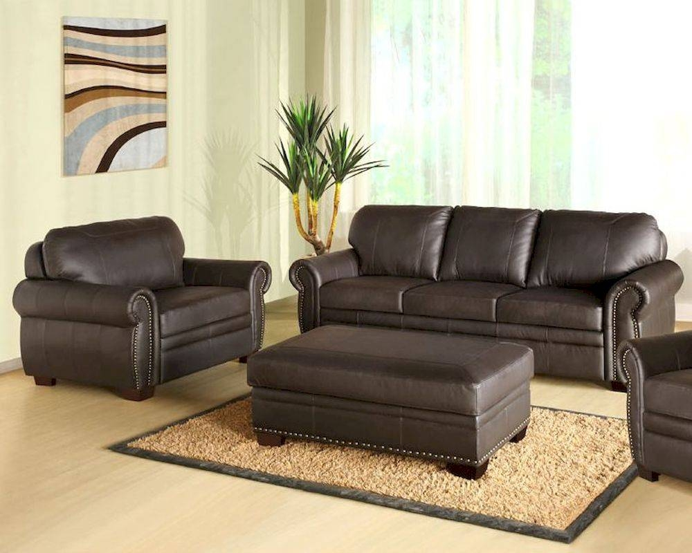 Living Sofa Set Bellavista Ab-55Ci-D210-Brn-3-1-4 within Abbyson Sofas (Image 10 of 15)