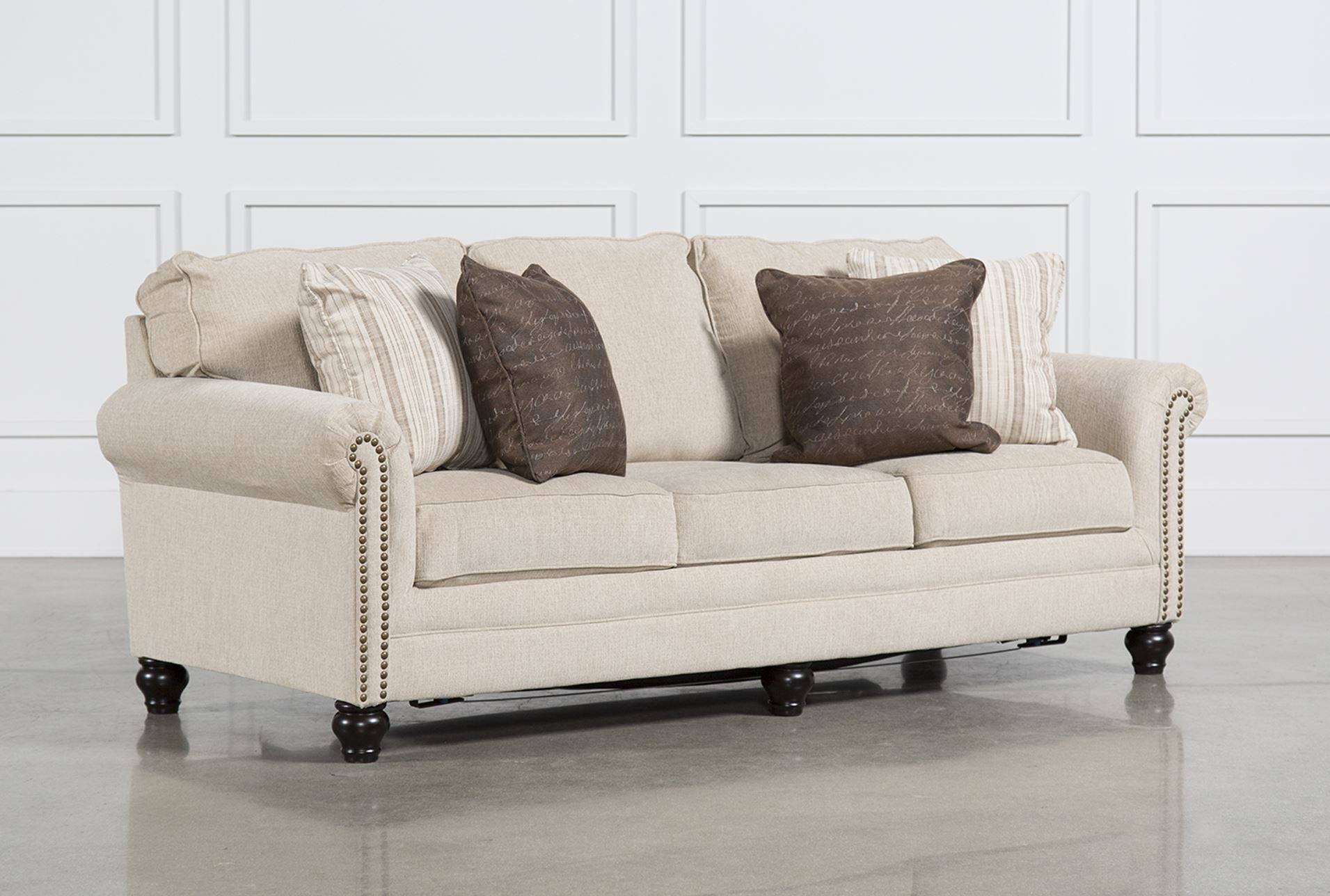 Living Spaces Sleeper Sofa - Tourdecarroll for Queen Convertible Sofas (Image 6 of 15)