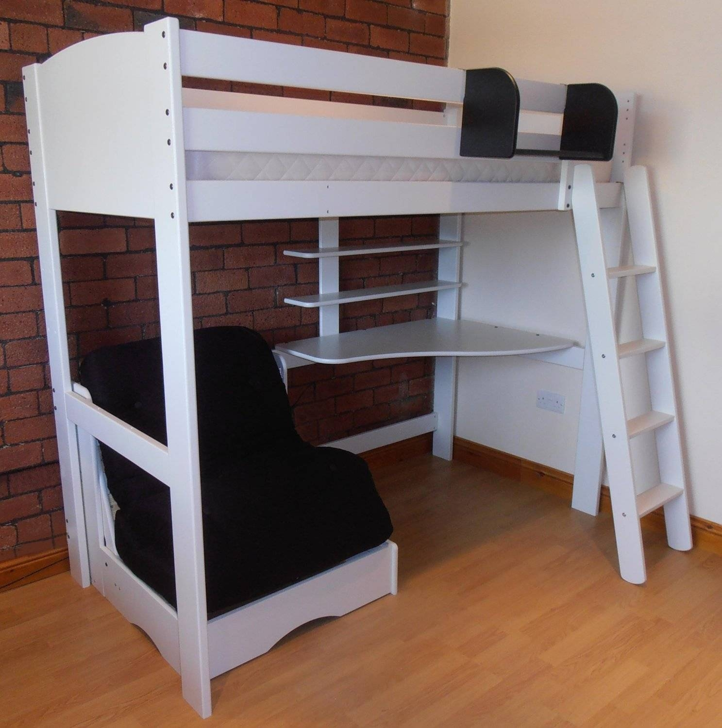 Loft Bed With Futon Underneath And Color Image Of Beds Desk ~ Loversiq Inside Bunk Bed With Sofas Underneath (View 9 of 15)