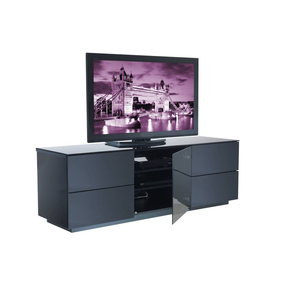 London Designer High Gloss Black T.v Stand | Allans Furniture within Shiny Black Tv Stands (Image 8 of 15)