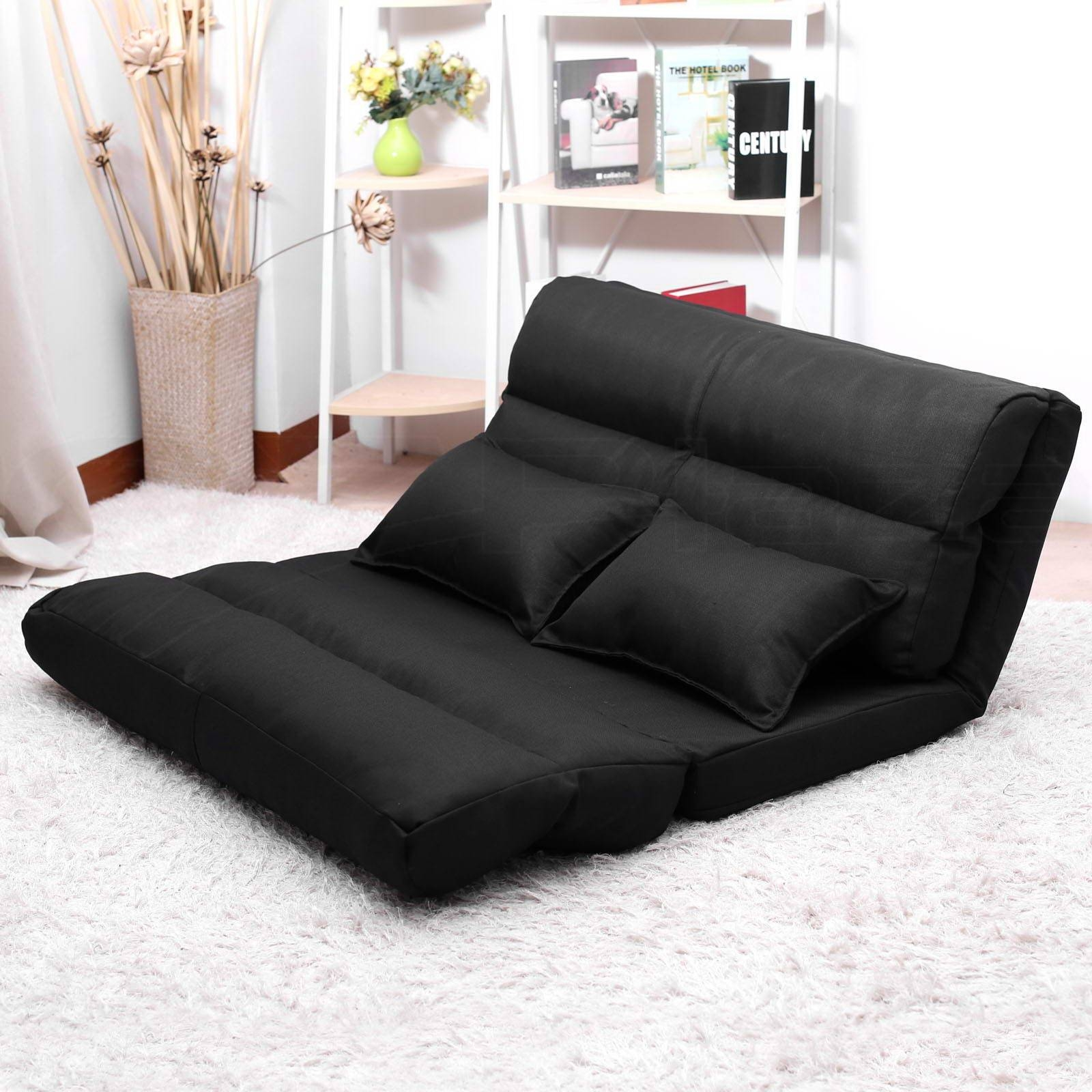 Lounge Sofa Bed Double Size Floor Recliner Folding Chaise Chair with Chaise Longue Sofa Beds (Image 9 of 15)