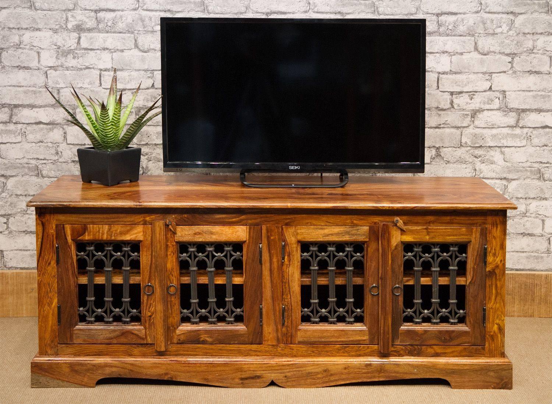 Low 4 Door Jali Tv Cabinet Rj-139-4 pertaining to Jali Tv Cabinets (Image 14 of 15)