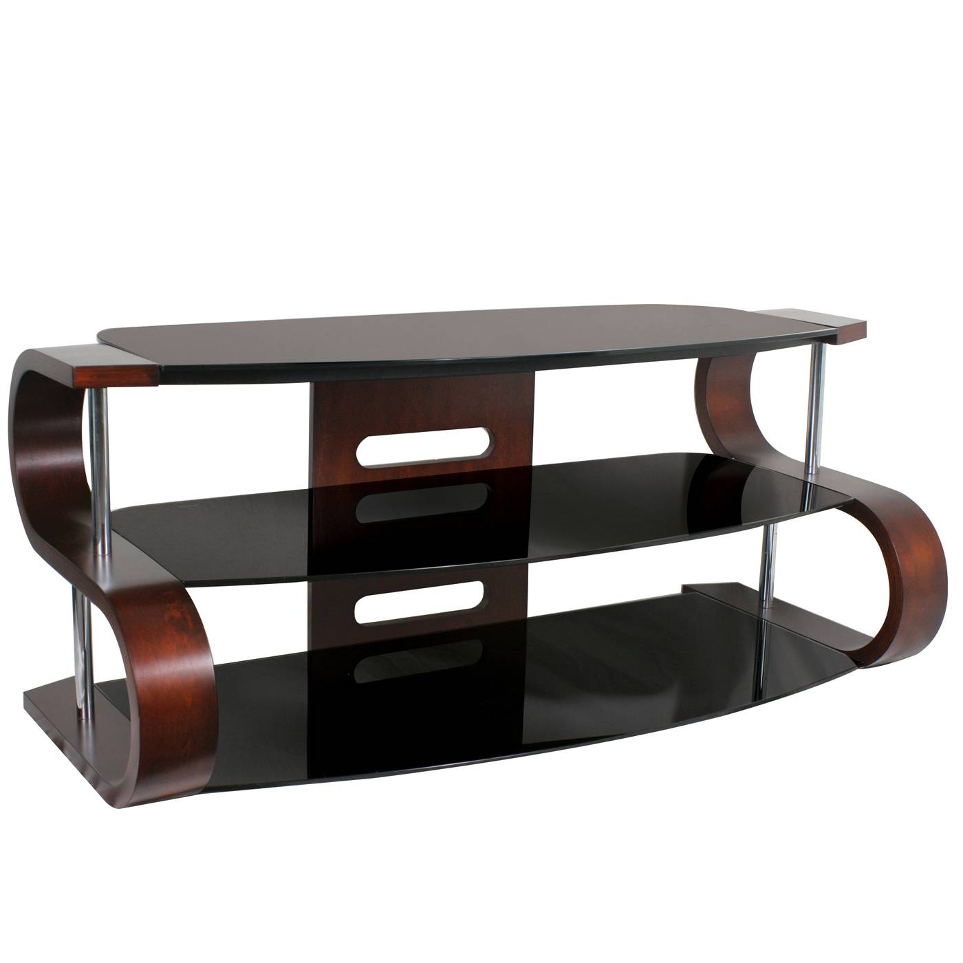 Lumisource Tv-Sw-Ts 120 Metro Series 120 Tv Stand | Lowe's Canada for Modern Glass Tv Stands (Image 4 of 15)