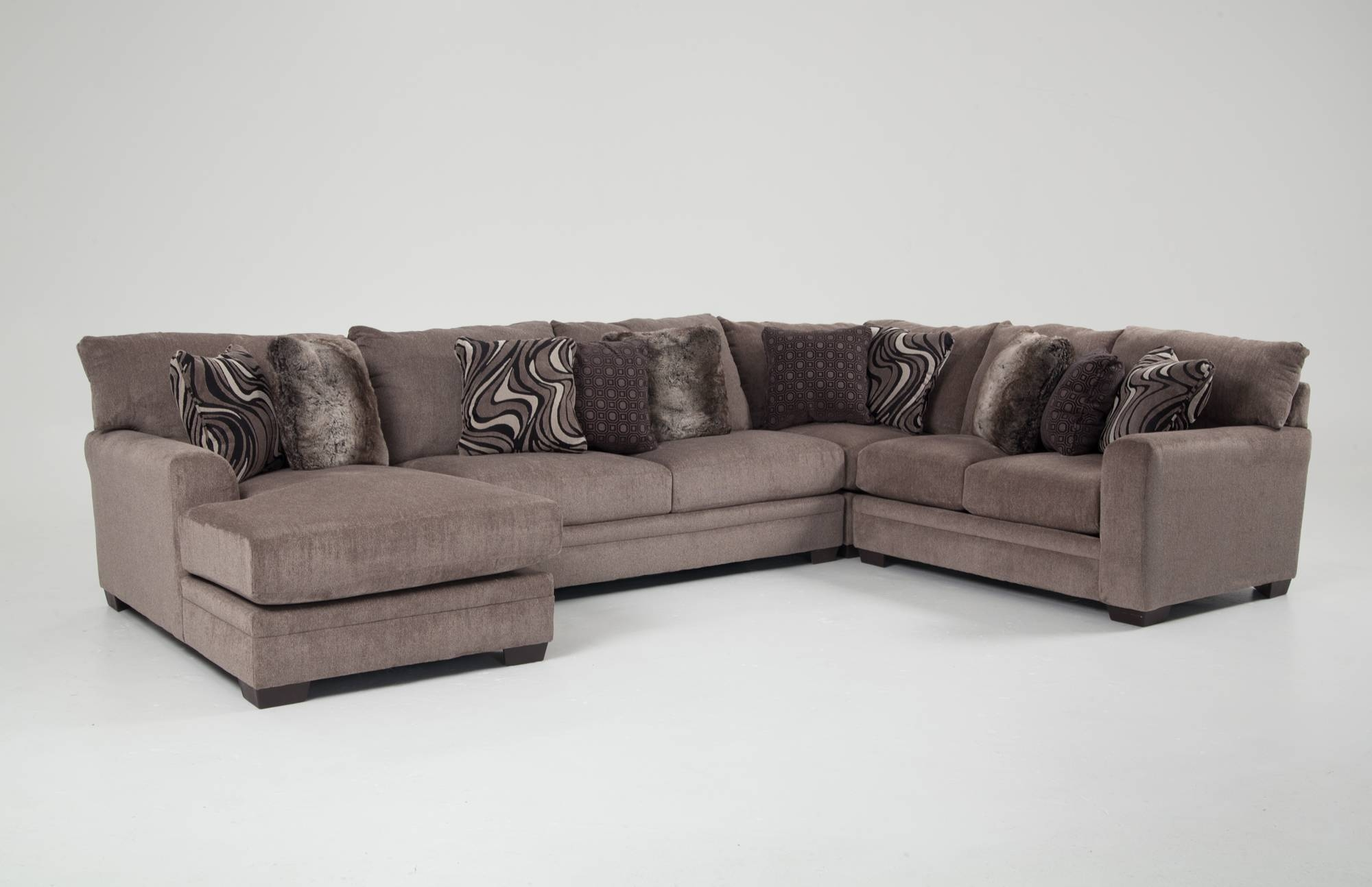 Luxe 4 Piece Right Arm Facing Sectional With Chaise | Bob's with Luxe Sofas (Image 9 of 15)