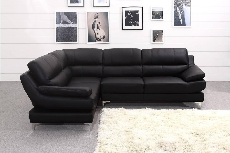 Luxury Black Leather Corner Sofa. Furniture | Mommyessence intended for Black Corner Sofas (Image 11 of 15)
