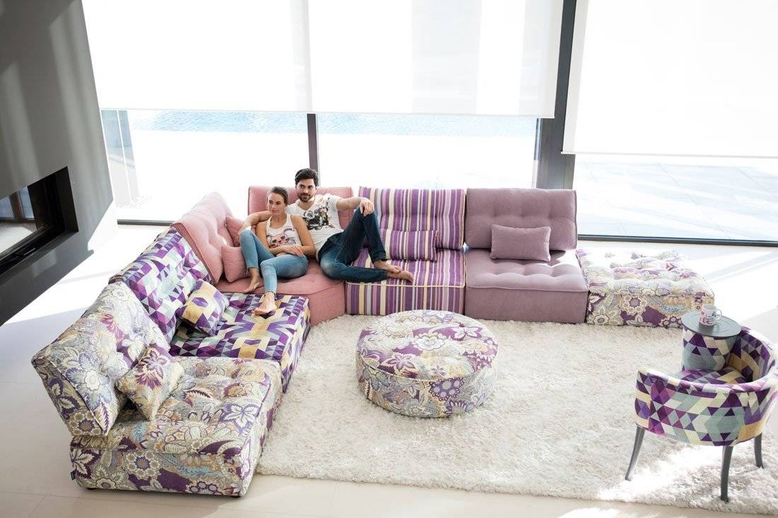 Mah Jong Style Sectional Sofa Arianne Love – Famaliving Montreal Throughout Mahjong Sofas (View 7 of 15)