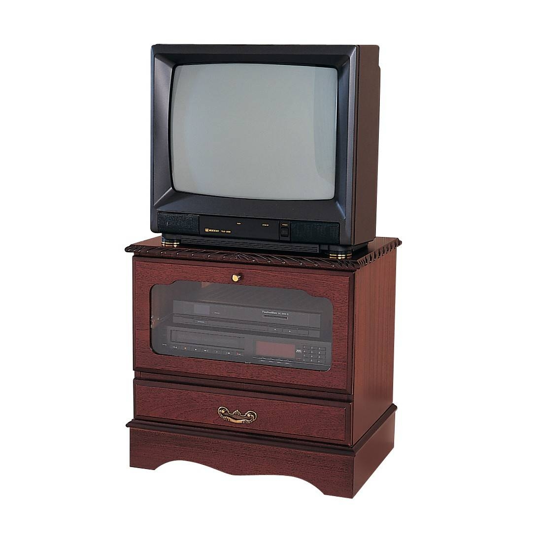 Mahogany Small Square Tv Stand With Drop Flap | Gola Furniture Uk With Regard To Square Tv Stands (View 11 of 15)