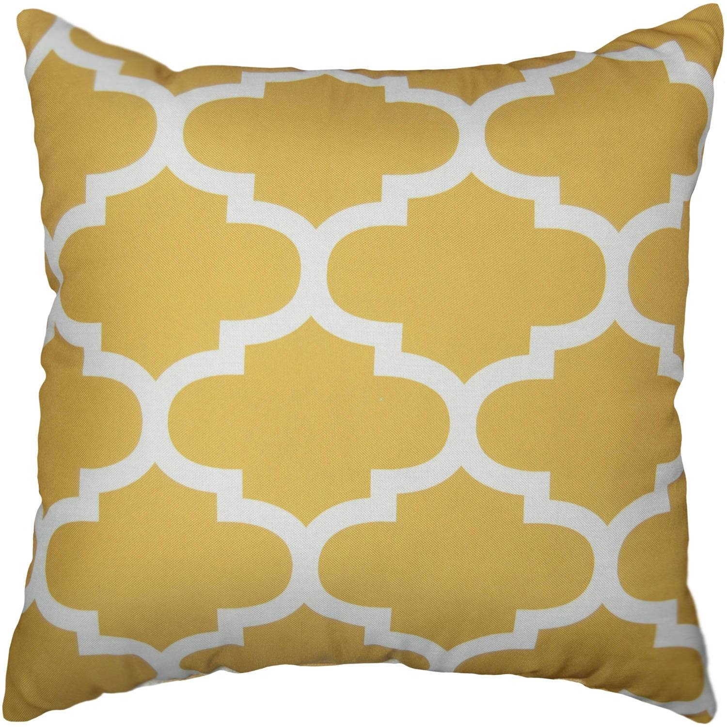 Mainstays Fretwork Decorative Pillow - Walmart for Gold Sofa Pillows (Image 9 of 15)