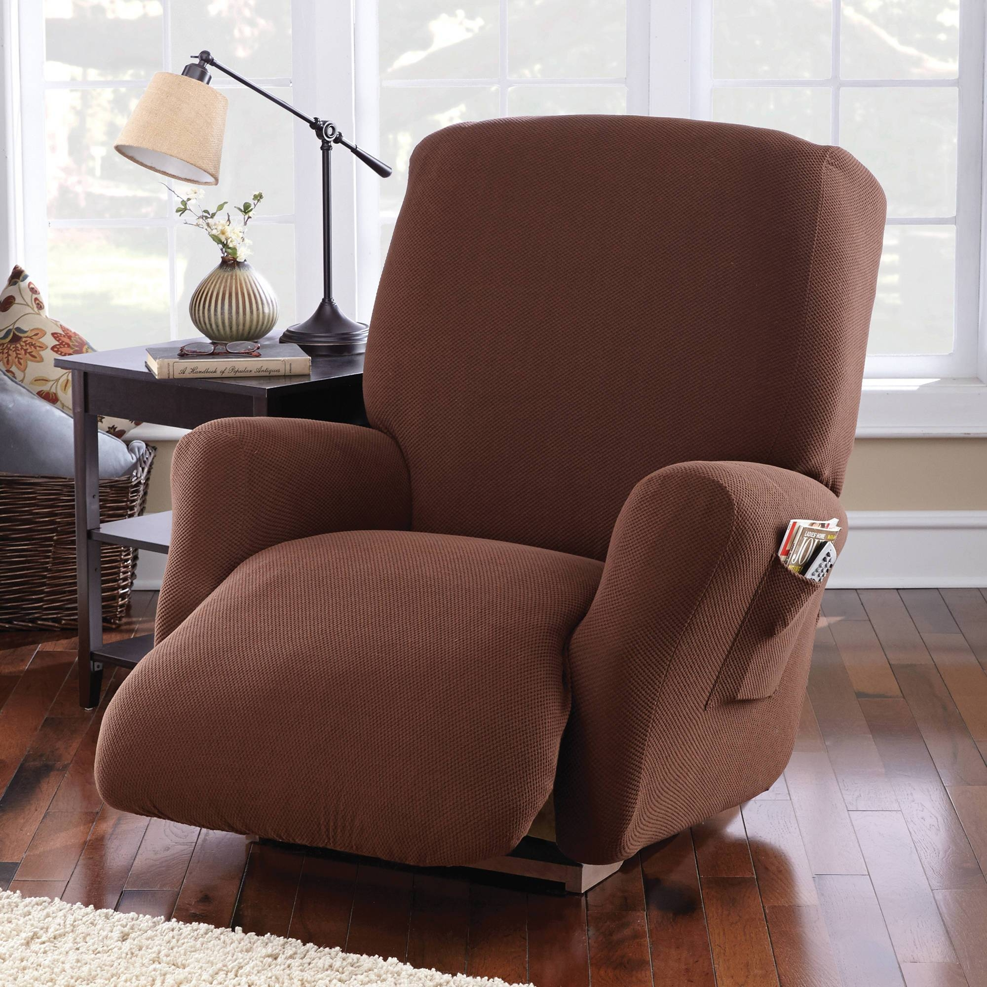 Mainstays Pixel Recliner Slipcover - Walmart pertaining to Slipcover For Recliner Sofas (Image 3 of 15)