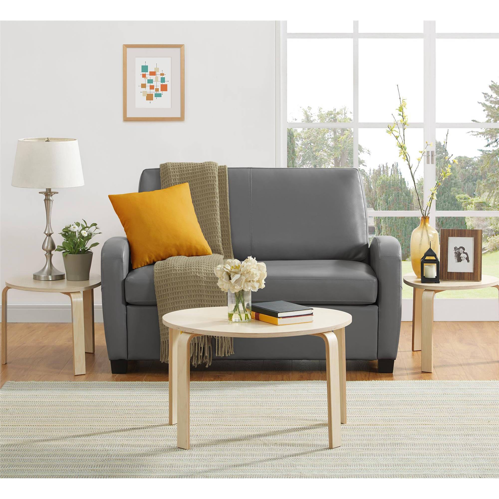Mainstays Sofa Sleeper, Black - Walmart pertaining to Mainstays Sleeper Sofas (Image 10 of 15)