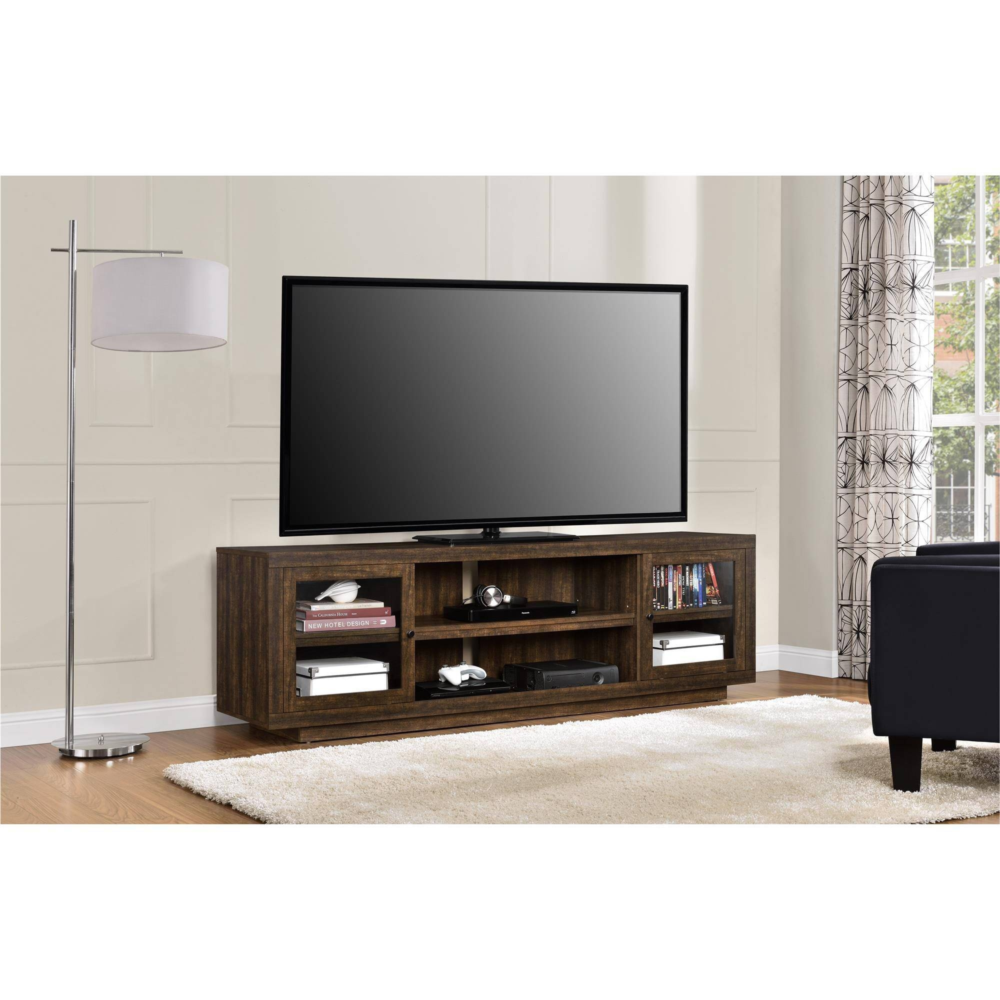 """Mainstays Tv Stand For Flat Screen Tvs Up To 47"""", Multiple Finish Inside Como Tv Stands (View 7 of 15)"""