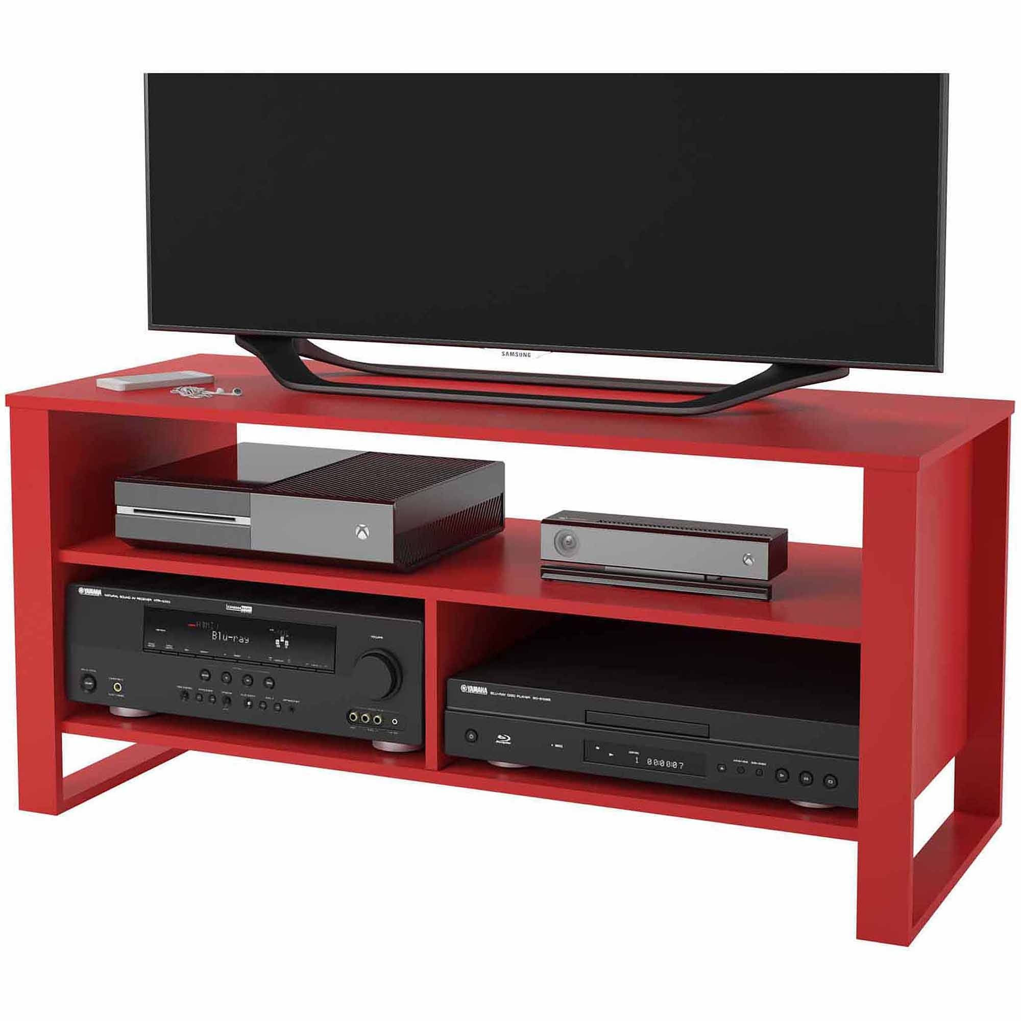 "Mainstays Tv Stand For Tvs Up To 44"" - Walmart within Red Tv Stands (Image 6 of 15)"