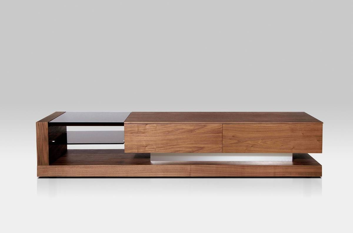 Mali Modern Walnut Tv Stand within Modern Walnut Tv Stands (Image 7 of 15)