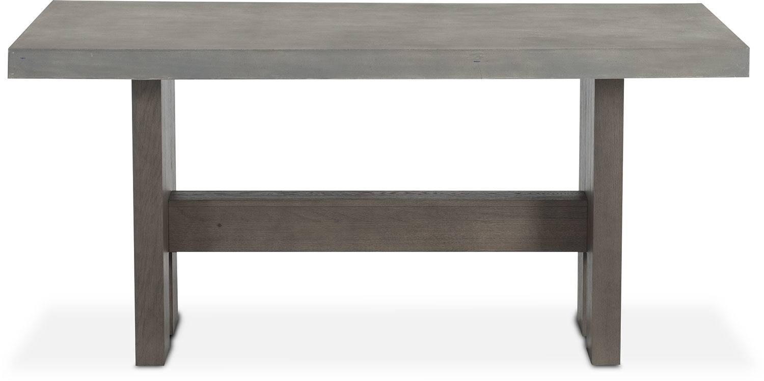 Malibu Rectangular Counter-Height Concrete Top Table - Gray pertaining to Counter Height Sofa Tables (Image 4 of 15)
